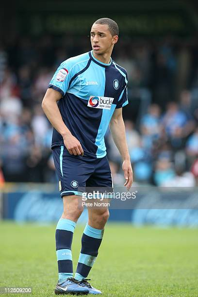 Lewis Montrose of Wycombe Wanderers during the npower League Two League match between Wycombe Wanderers and Northampton Town at Adams Parks on April...