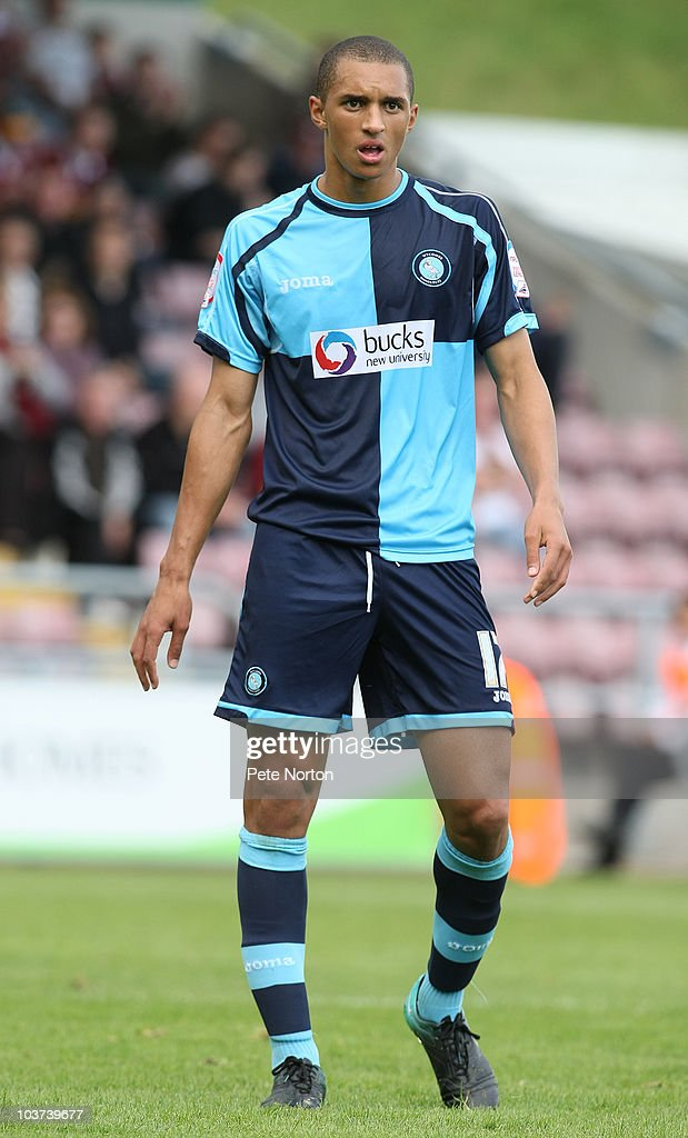 Lewis Montrose of Wycombe Wanderers in action during the npower LeagueTwo match between Northampton Town and Wycombe Wanderers at Sixfields Stadium on August 28, 2010 in Northampton, England.