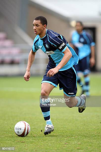 Lewis Montrose of Wycombe Wanderers in action during the TotesportCom Combination League Match between Northampton Town Res and Wycombe Wanderers Res...