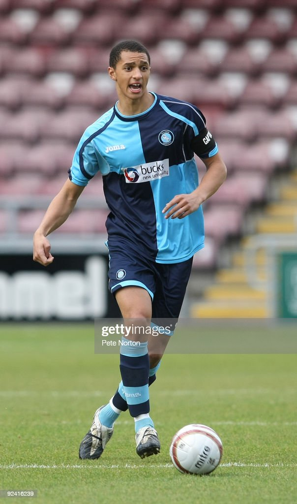 Lewis Montrose of Wycombe Wanderers in action during the Totesport.Com Combination League Match between Northampton Town Res and Wycombe Wanderers Res at Sixfields Stadium on October 27, 2009 in Northampton,England.