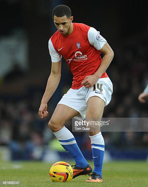 Lewis Montrose of York City in action during the Sky Bet League Two match between Southend United and York City at Roots Hall on November 23 2013 in...