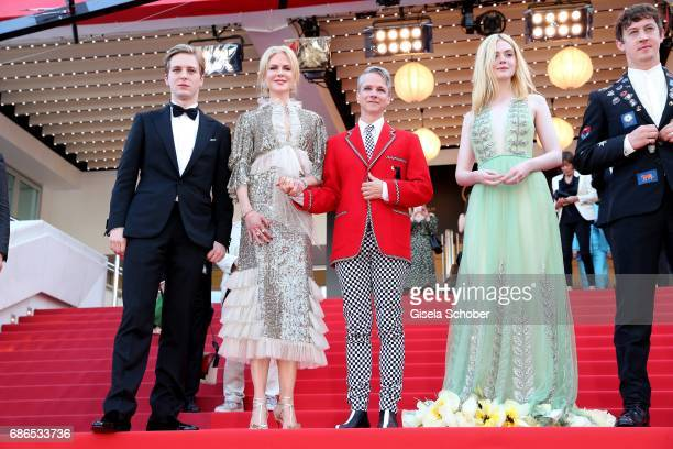 AJ Lewis Nicole Kidman John Cameron Mitchell Elle Fanning Alex Sharp Neil Gaiman depart after the 'How To Talk To Girls At Parties' screening during...
