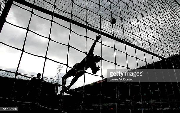 Lewis Price of Ipswich makes a save during the CocaCola Championship match between Ipswich Town and Norwich City at Portman Road on September 18 2005...