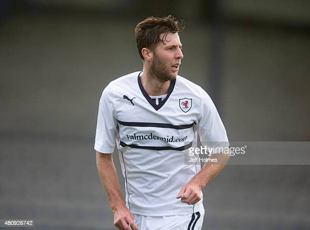 Lewis Toshney for Hearts during the Pre Season Friendly between Raith Rovers and Hearts at Starks Park on July 07 2015 in Kirkcaldy Scotland