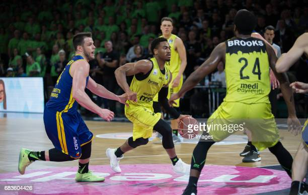 Lewis Trey of medi bayreuth in action during the easyCredit BBL match between medi bayreuth and EWE Baskets Oldenburg at Oberfrankenhalle on May 5...