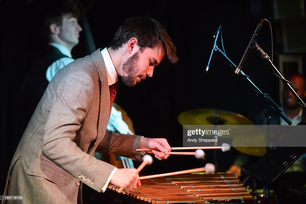 Lewis Wright of the band Empirical performs on stage at Pizza Express Jazz Club on February 4, 2013 in London, England.