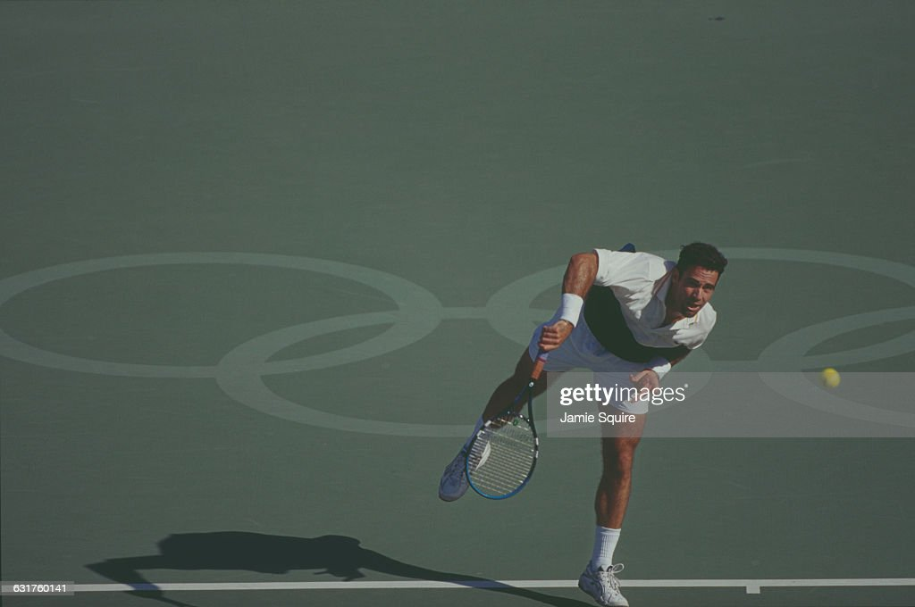 Àlex Corretja of Spain competing in the men's tennis at the Olympic Games in Sydney, Australia, 21st September 2000.