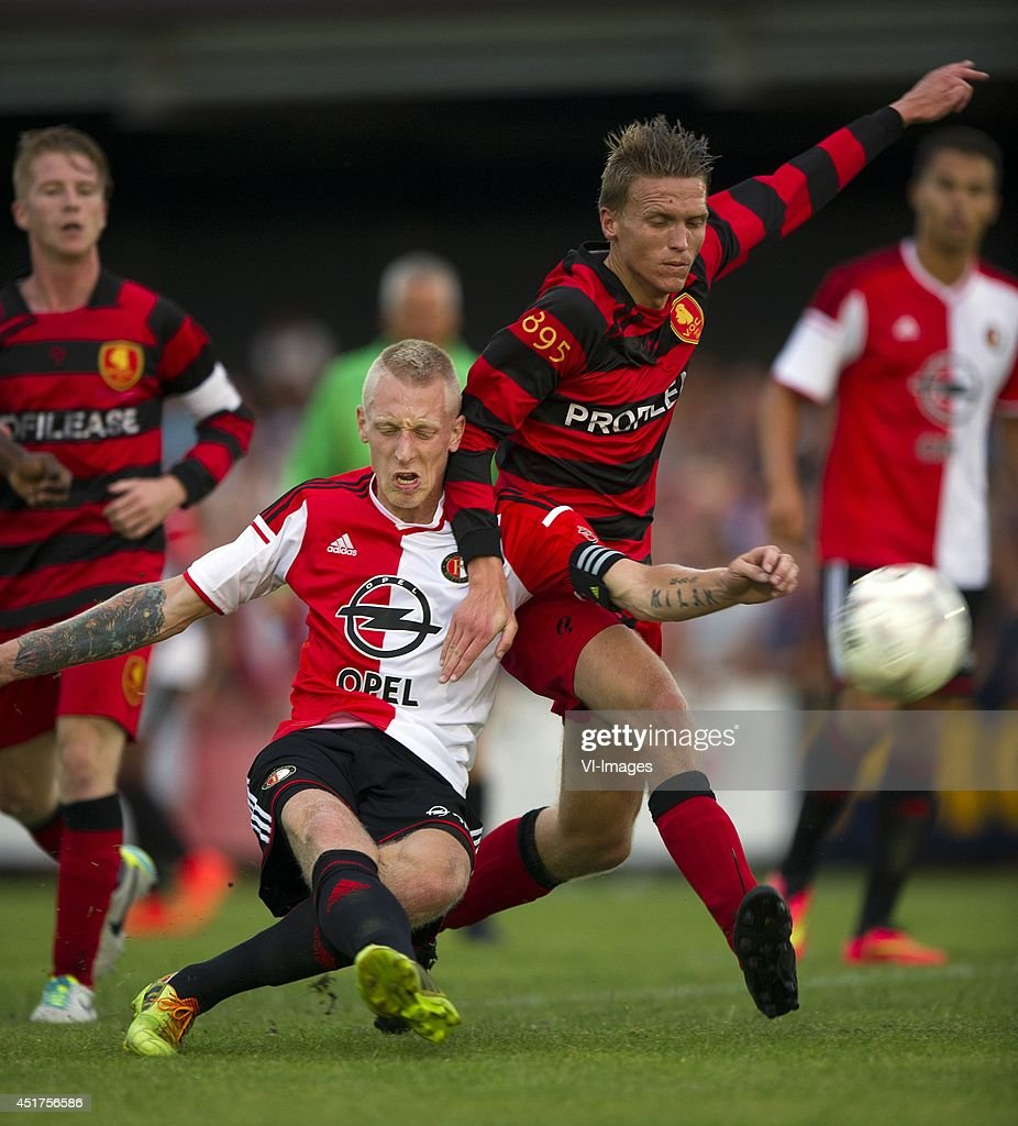 Lex Immers during the friendly match between VOC and Feyenoord on July 4, 2014 at Rotterdam, The Netherlands.