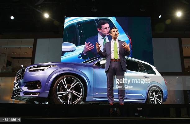 Lex Kerssemaker Senior VP Product Strategy and Vehicle Line Management at Volvo introduces the new XC90 at the North American International Auto Show...