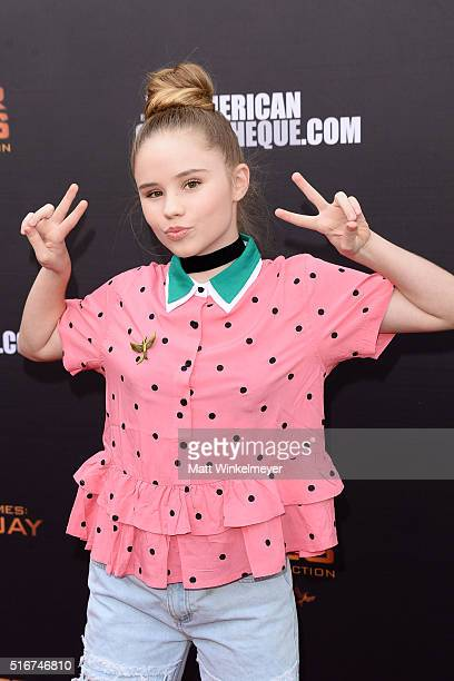 Lexee Smith arrives at the Lionsgate's 'The Hunger Games Mockingjay Part 2' fan event at the Egyptian Theatre on March 20 2016 in Hollywood California