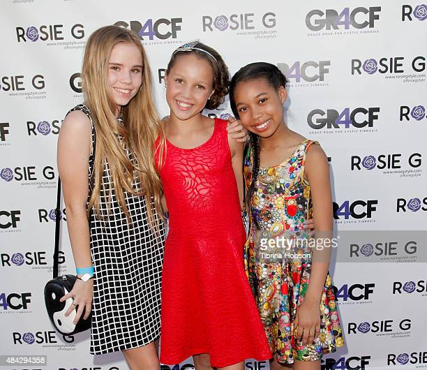 Lexee Smith Grace Rose Bauer and Kyla Drew attend Grace Rose Bauer children's fashion show supporting Cystic Fibrosis research at CBS studios on...