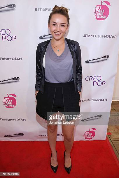 Lexi Ainsworth attends the CreoPop 3D Art Exhibition at Artspace Warehouse on May 14 2016 in Los Angeles California