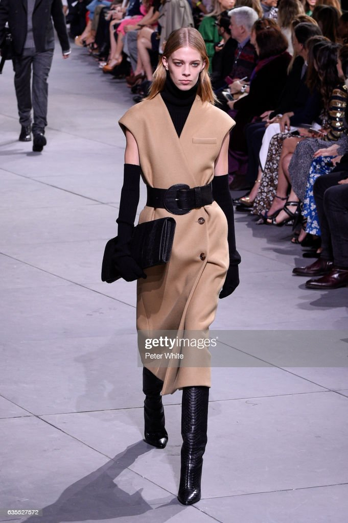 Lexi Boling walks the runway at the Michael Kors Collection Fall 2017 show at Spring Studios on at Spring Studios on February 15, 2017 in New York City.