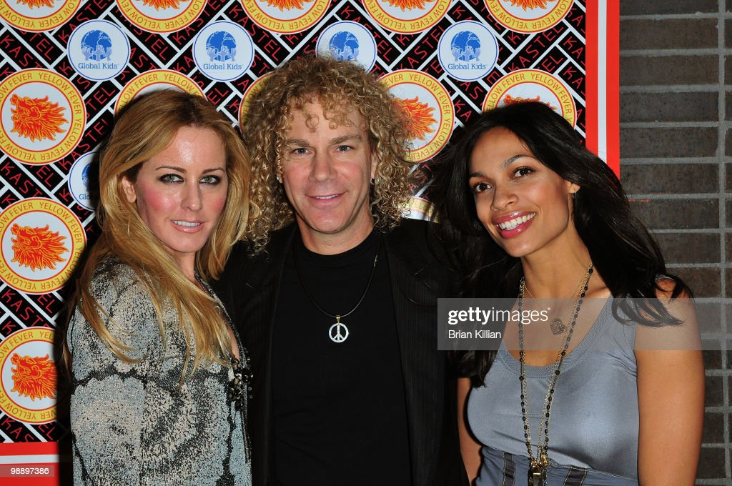 Lexi Bryan musician David Bryan and Rosario Dawson attend Rosario Dawson's birthday party at Trump SoHo on May 6 2010 in New York City