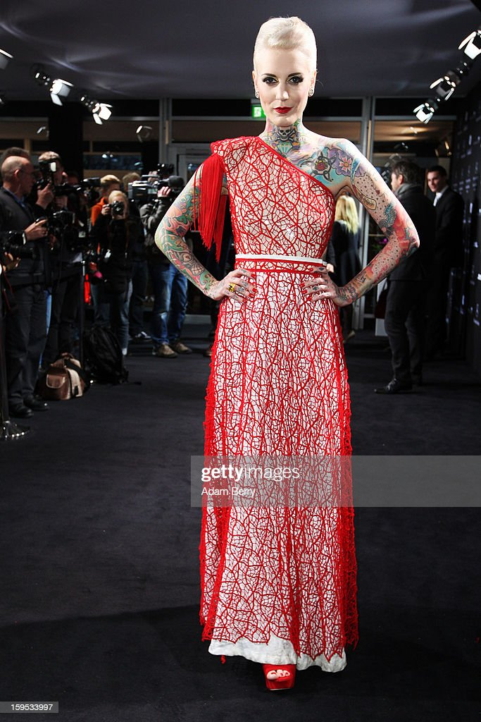 Lexi Hell attends Marc Stone Autumn/Winter 2013/14 fashion show during Mercedes-Benz Fashion Week Berlin at Brandenburg Gate on January 15, 2013 in Berlin, Germany.