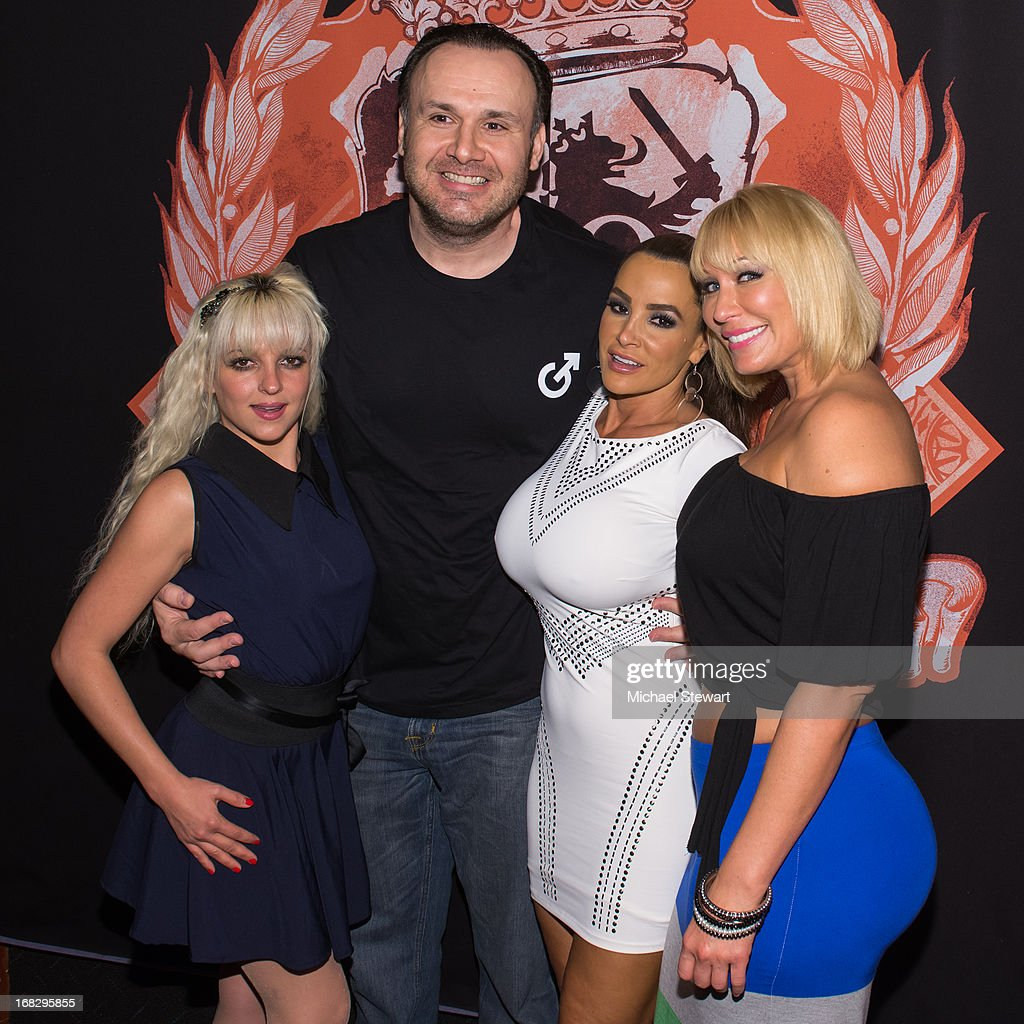 Lexi Love, Big John, Lisa Ann and Mellanie Monroe attend Lisa Ann's Birthday Celebration at Headquarters on May 7, 2013 in New York City.