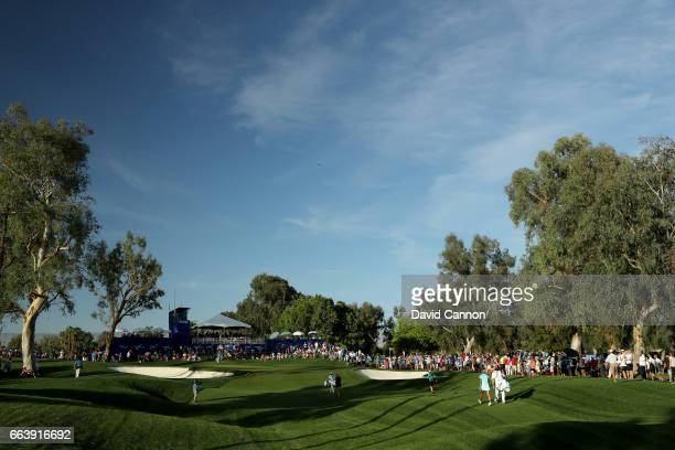 Lexi Thompson and Suzann Pettersen in teh final match walk to the green on the 17th hole during the final round of the 2017 ANA Inspiration held on...