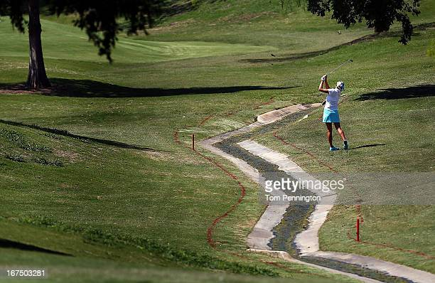 Lexi Thompson of Coral Springs Florida hits a shot during the first round of the 2013 North Texas LGPA Shootout athe Las Colinas Country Club on...