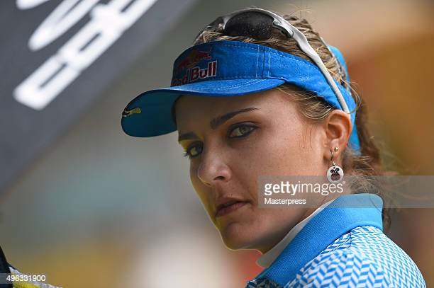 Lexi Thompson of the USA looks on during the third round of the TOTO Japan Classics 2015 at the Kintetsu Kashikojima Country Club on November 8 2015...