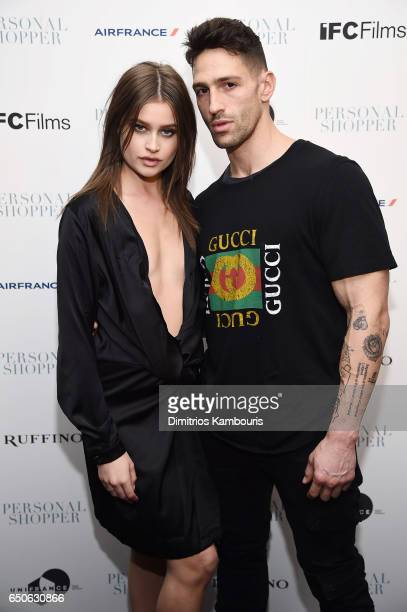 Lexi Wood and Noah Neiman attend the 'Personal Shopper' premiere at Metrograph on March 9 2017 in New York City