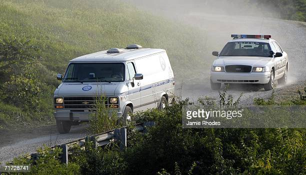 LexingtonFayette County Coroner's van leaves the scene where Comair Flight 5191 crashed shortly after departure from Blue Grass Airport August 27...