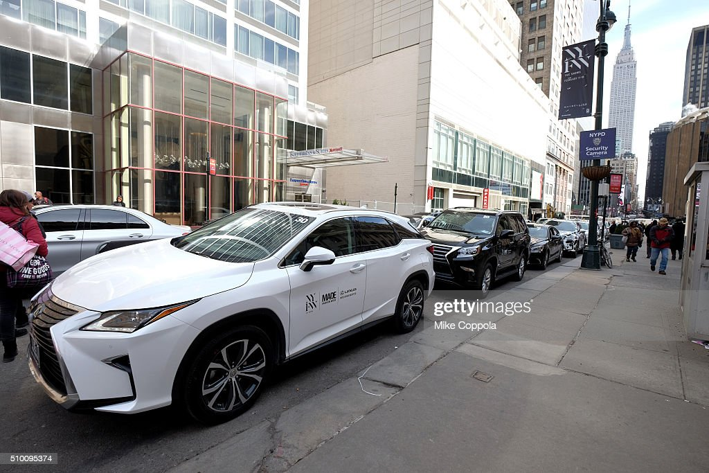 Lexus cars seen during Day 3 of New York Fashion Week: The Shows at Skylight at Moynihan Station on February 13, 2016 in New York City.