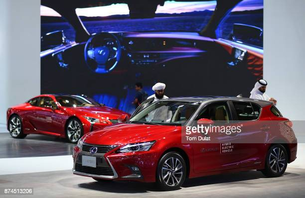 Lexus CT Hybrid is seen during Dubai Motor Show at Dubai World Trade Centre on November 15 2017 in Dubai United Arab Emirates