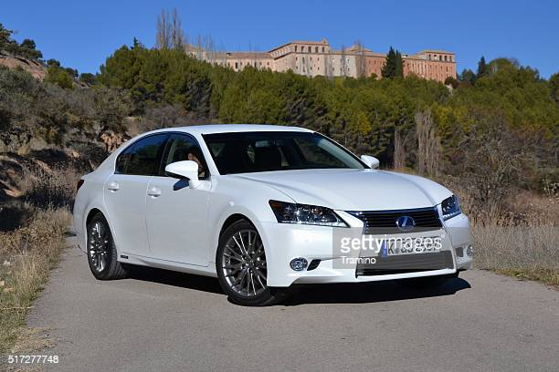 Lexus GS300h stopped on the road