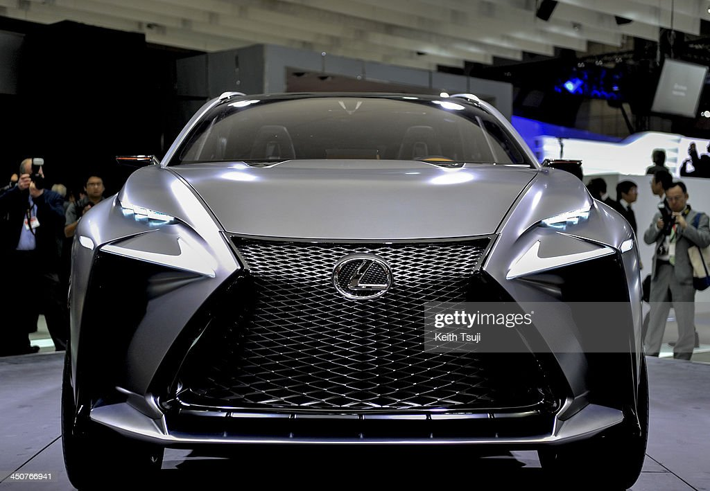 Lexus LF-NX Sport-Utility Vehicle (SUV) is displayed during the 43rd Tokyo Motor Show 2013 at Tokyo Big Sight on November 20, 2013 in Tokyo, Japan. The 43rd Tokyo Motor Show 2013 will be open to public from November 22nd to December 1st, 2013.
