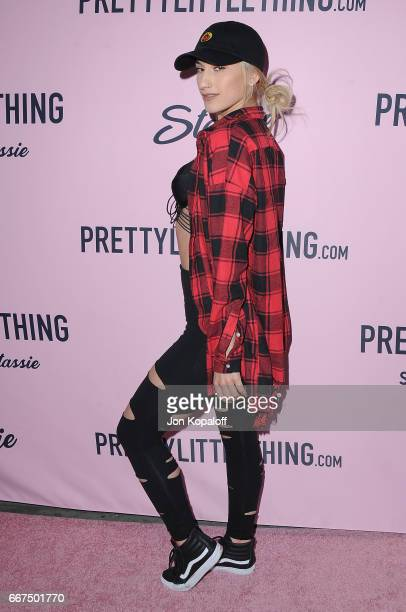 Lexy Panterra arrives at PrettyLittleThing Campaign Launch For PLT SHAPE With Brand Ambassador Anastasia Karanikolaou on April 11 2017 in Los Angeles...