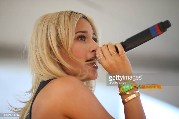 Lexy Panterra performs onstage at the KALEIDOSCOPE REFRESH presented by Cannabinoid Water on April 16 2017 in La Quinta California