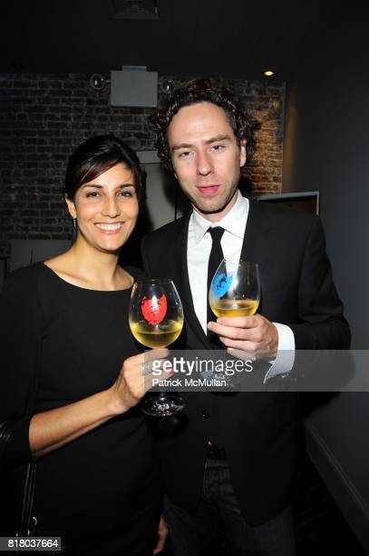 Ley Salcedo and Mike Brown attend DOM PERIGNON closes Fashion Week with a tribute to Andy Warhol at VILLA PACRI NYC on September 16 2010 in New York...