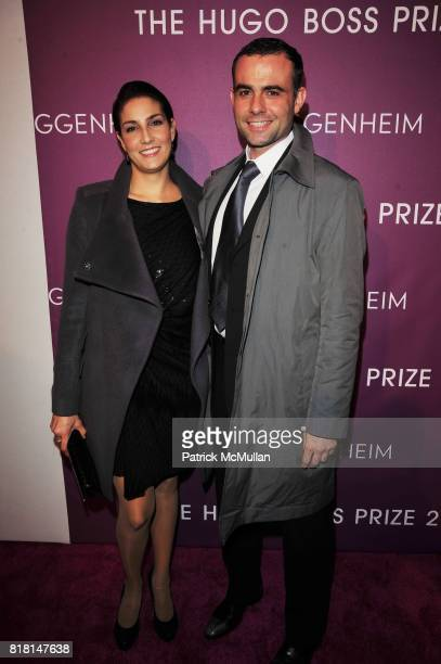 Ley Salcedo and Thomas Serrano attend THE HUGO BOSS PRIZE Annual Party 2010 Arrivals at Solomon R Guggenheim Museum NYC on November 4 2010 in New...