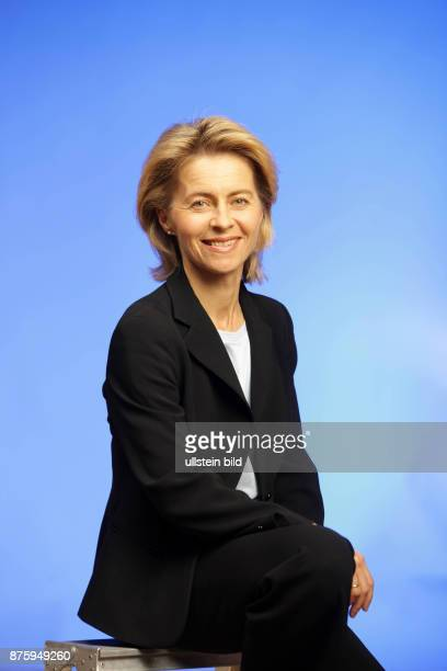 Leyen Ursula von der Politician Federal Minister for Family Affairs Senior Citizens Women and Youth CDU Germany