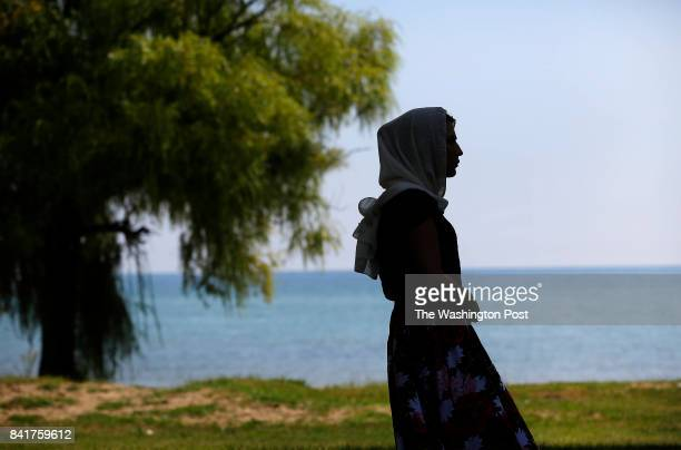 Leyla a transgender woman from Chechnya poses for a portrait along Lake Michigan in Chicago Illinois on August 30 2017 Photo by Joshua Lott for The...