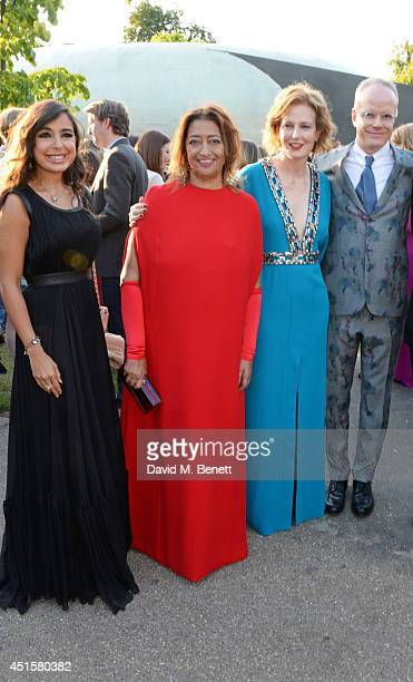 Leyla Aliyeva Zaha Hadid Julia PeytonJones and HansUlrich Obrist attend The Serpentine Gallery Summer Party cohosted by Brioni at The Serpentine...