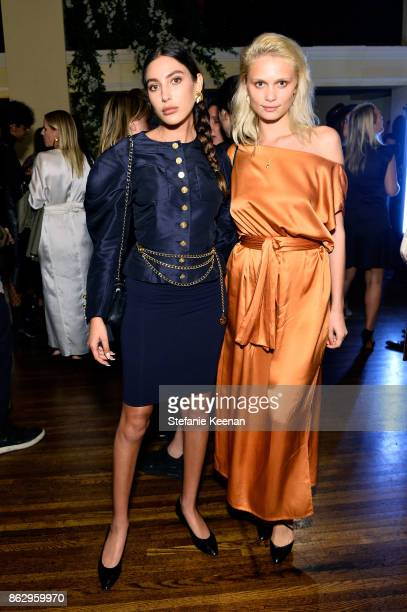 Leyla Rahimi and Delilah Parillo at HM x ERDEM Runway Show Party at The Ebell Club of Los Angeles on October 18 2017 in Los Angeles California