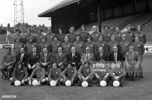 Leyton Orient FC back row left to right Micky Bullock Bobby Moss John South Terry Mancini Mike O'Shaughnessy Ray Goddard Steve Bowtell Paul Harris...