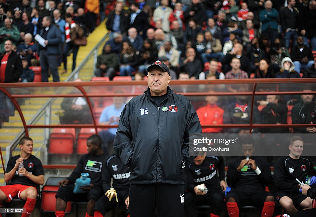 Leyton Orient manager Russell Slade during the Sky Bet League One match between Leyton Orient and MK Dons at The Matchroom Stadium on October 12, 2013 in London, England.