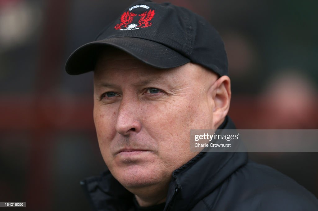 Leyton Orient manager <a gi-track='captionPersonalityLinkClicked' href=/galleries/search?phrase=Russell+Slade&family=editorial&specificpeople=741623 ng-click='$event.stopPropagation()'>Russell Slade</a> during the Sky Bet League One match between Leyton Orient and MK Dons at The Matchroom Stadium on October 12, 2013 in London, England.