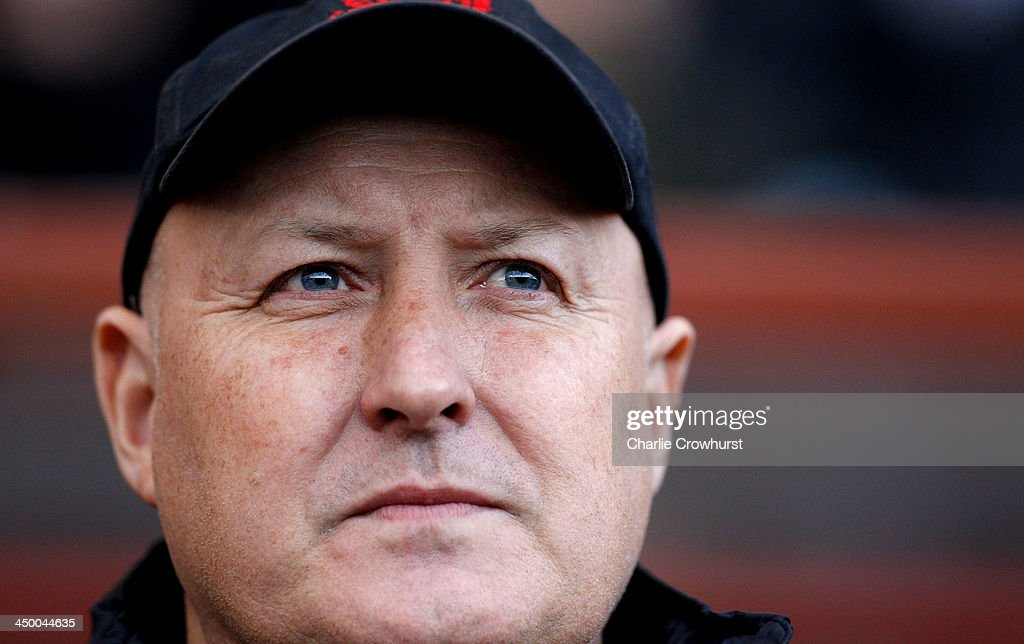 Leyton Orient manager <a gi-track='captionPersonalityLinkClicked' href=/galleries/search?phrase=Russell+Slade&family=editorial&specificpeople=741623 ng-click='$event.stopPropagation()'>Russell Slade</a> looks on during the Sky Bet League One match between Leyton Orient and Preston North End at The Matchroom Stadium on November 16, 2013 in London, England.