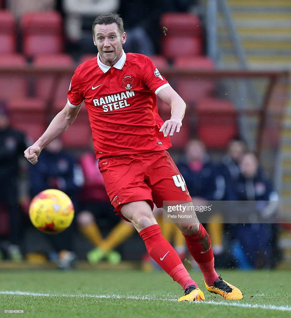 Leyton Orient player manager <a gi-track='captionPersonalityLinkClicked' href=/galleries/search?phrase=Kevin+Nolan&family=editorial&specificpeople=206775 ng-click='$event.stopPropagation()'>Kevin Nolan</a> in action during the Sky Bet League Two match between Leyton Orient and Northampton Town at Matchroom Stadium on February 13, 2016 in London, England.