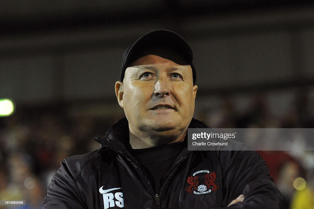 Leyton Orient Russell Slade during the Sky Bet League Once match between Brentford and Leyton Orient at Griffin Park on September 23, 2013 in Brentford, England.