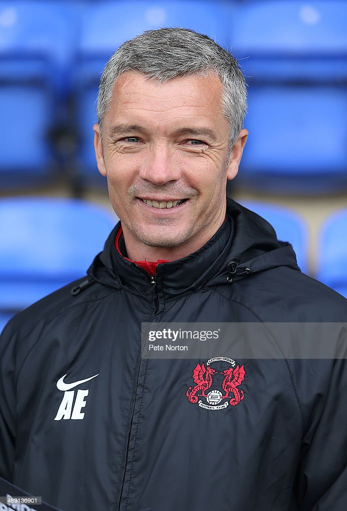Leyton Orient Youth Team manager Andy Edwards looks on prior to the Sky Bet League One Semi Final First Leg between Peterborough United and Leyton Orient at London Road Stadium on May 10, 2014 in Peterborough, England.
