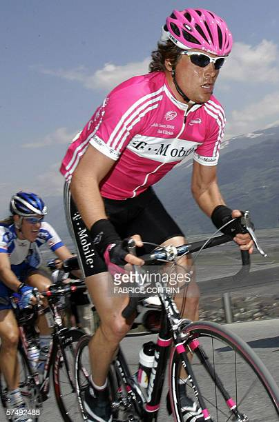 Jan Ullrich of Germany climbs during the 4th stage Sion to Sion a 1277kms loop at the sixday Tour of Romandie UCI Protour cycling race 29 April 2006...