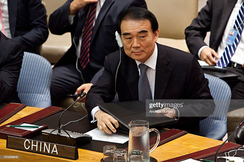 Li Baodong, ambassador and permanent representative of the People's Republic of China to the United Nations (UN), attends a UN Security Council meeting regarding the on-going situation in Syria on August 30, 2012 in New York City. UN Security Council negotiations regarding the situation in Syria collapsed last month.