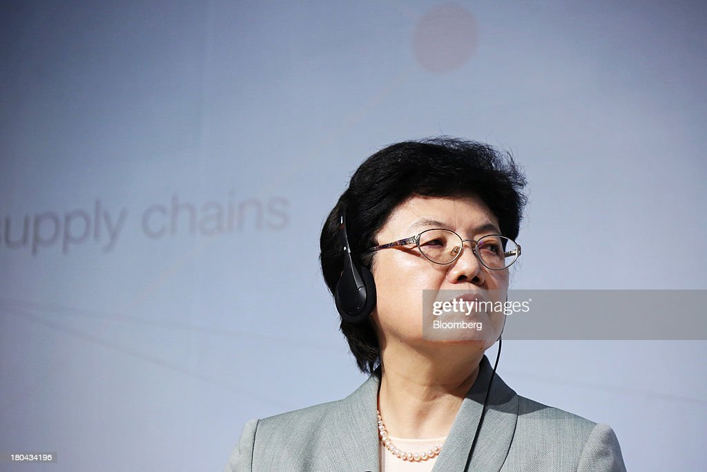 <a gi-track='captionPersonalityLinkClicked' href=/galleries/search?phrase=Li+Bin&family=editorial&specificpeople=227305 ng-click='$event.stopPropagation()'>Li Bin</a>, minister of China's National Health and Family Planning Commission (NHFPC), listens during the World Economic Forum Annual Meeting Of The New Champions in Dalian, China, on Thursday, Sept. 12, 2013. The forum, also known as 'Summer Davos', runs from Sept. 11-13. Photographer: Tomohiro Ohsumi/Bloomberg via Getty Images