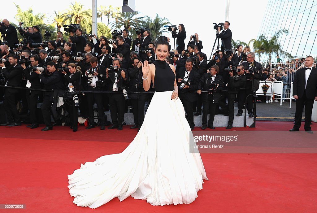 Li Bing Bing attends the 'Cafe Society' premiere and the Opening Night Gala during the 69th annual Cannes Film Festival at the Palais des Festivals on May 11, 2016 in Cannes, France.
