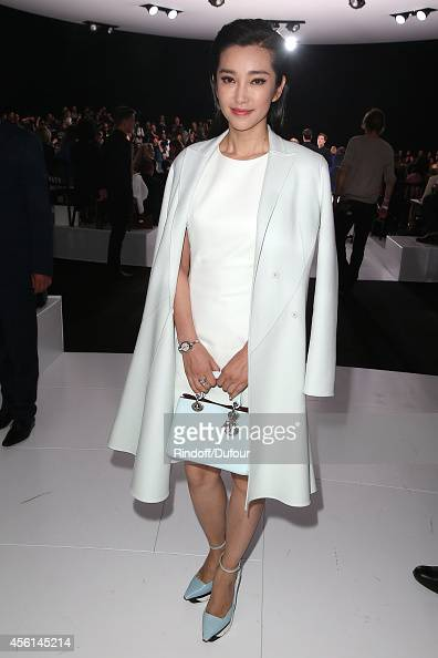 Li Bing Bing attends the Christian Dior show as part of the Paris Fashion Week Womenswear Spring/Summer 2015 on September 26 2014 in Paris France