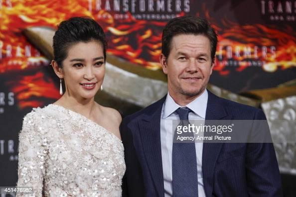 Li Bingbing and Mark Wahlberg attend the 'Transformers Age of Extinction' Berlin Premiere on June 29 2014 in Berlin Germany